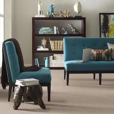 Exquisite - Color Ecru Lace Pattern Brown Carpet