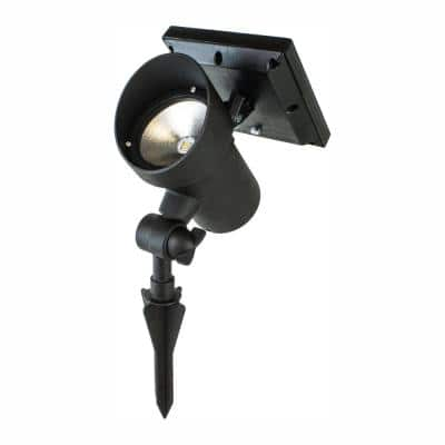 High Lumen Metal Solar Black Outdoor Integrated LED Landscape Spot Light