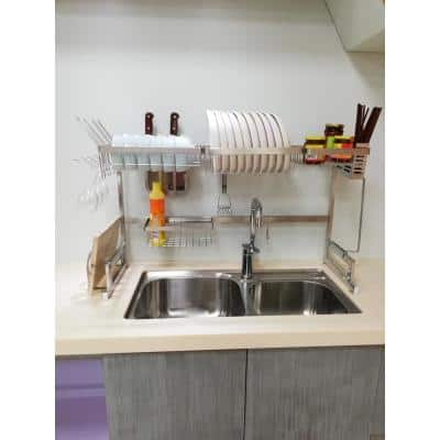 Avery 37.4 in. Stainless Steel Standing Dish Rack
