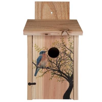 Decorative Bird in Tree Cedar Blue Bird House