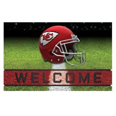 NFL - Kansas City Chiefs 18 in. x 30 in. Rubber Door Mat