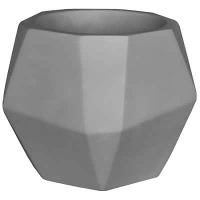 Abel 5.7 in. x 5.9 in. x 4.9 in. Light Grey Concrete Planter Pot with Drainage Hole