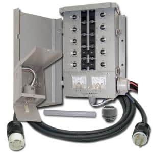 30-Amp 8-Space 10-Circuits G2 Manual Transfer Switch Kit