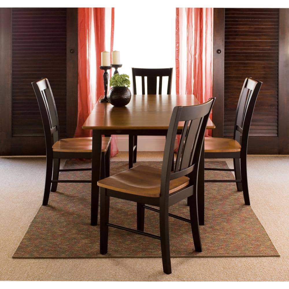 International Concepts Leah 9 Piece 9 in. Black/Cherry ...