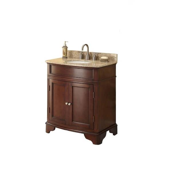 Home Decorators Collection Terryn 31 In, Cherry Bathroom Vanities