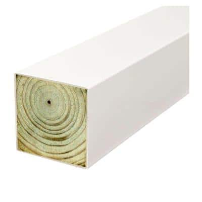 4 in. x 4 in. x 8 ft. Polymer Coated White Pressure-Treated SYP Multi-Purpose Fence Post