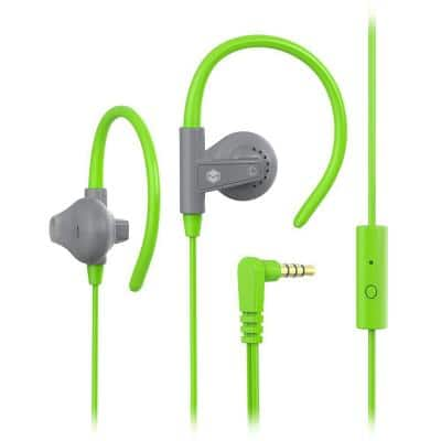 Aerofones Sports Earhook Earphones with Mic in Green