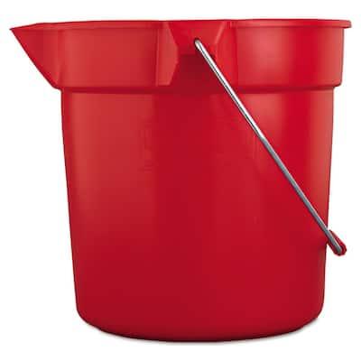 Brute 10 Qt. Red Bucket