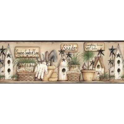Harlow Black Everything Grows With Love Black Wallpaper Border
