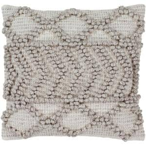 Kirkwall Gray Solid Textured Down 18 in. x 18 in. Throw Pillow