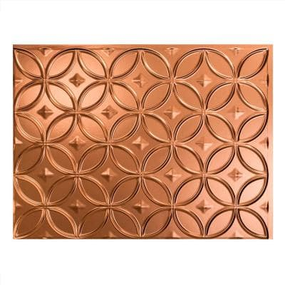 18.25 in. x 24.25 in. Rings Vinyl Backsplash Panel in Polished Copper (5-Pack)