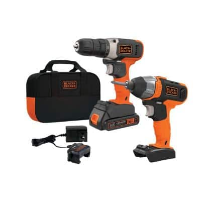 20-Volt Lithium-Ion Cordless Drill/Impact Driver Combo Kit (2-Tool)