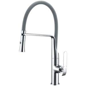 Accent Single-Handle Pull-Down Sprayer Kitchen Faucet in Polished Chrome