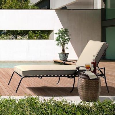 23 x 80 Sunbrella Canvas Flax Outdoor Chaise Lounge Cushion