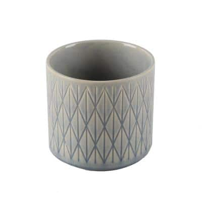 Flora Bunda 4 75 In Blue Diamond Ceramic Footed Pot Ct1743s Gsbl The Home Depot