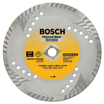 9 in. Premium Plus Turbo Diamond Angle Grinder Circular Blade for Slate, Fire Brick, Marble, and Other Masonry Material