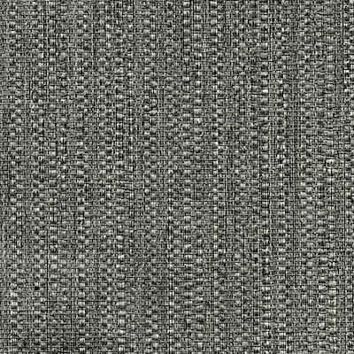 Biwa Black Vertical Weave Black Wallpaper Sample