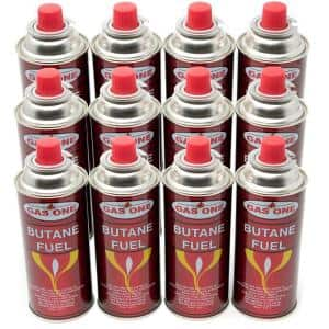 8 oz. Butane Fuel Canister Cartridge with Safety Release Device (12-Pack)