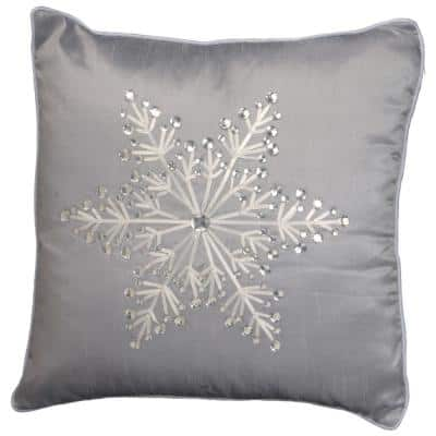 16 in. x 16 in. Snowflake Design Cushion