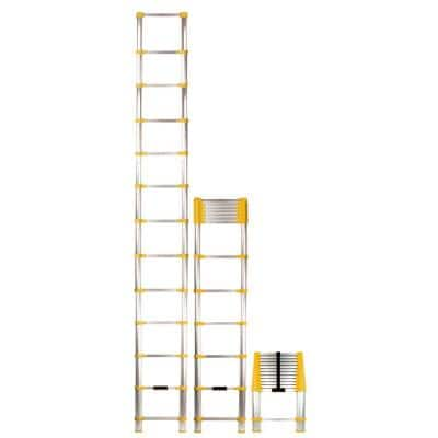 12.5 ft. Telescoping Aluminum Extension Ladder with 225 lb. Load Capacity Type II Duty Rating