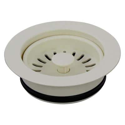 3.5 in. Plastic Disposal Strainer in Biscuit