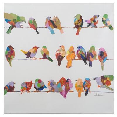 36 in. x 36 in. Birds on a Wire II