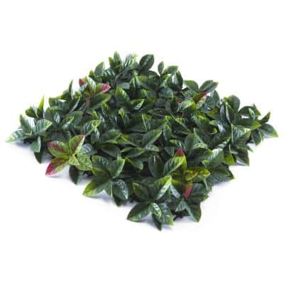 """20"""" x 20"""" Red Tip Photinia Leaves-Artificial Boxwood Hedges, Living Wall Panels (12 pcs)"""