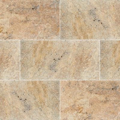 Tuscany Scabas 16 in. x 24 in. Square Gold Tumbled Travertine Paver Tile (15 Pieces/40.05 sq. ft./Pallet)