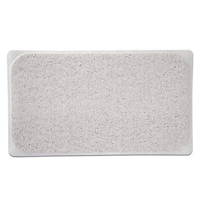 29.5 in. W x 17.25 in. L Loofa Bath Carpet in Ivory