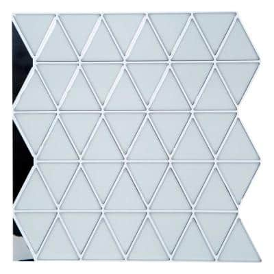 Peel and Stick Wall Tile 4-Pack in Geo White