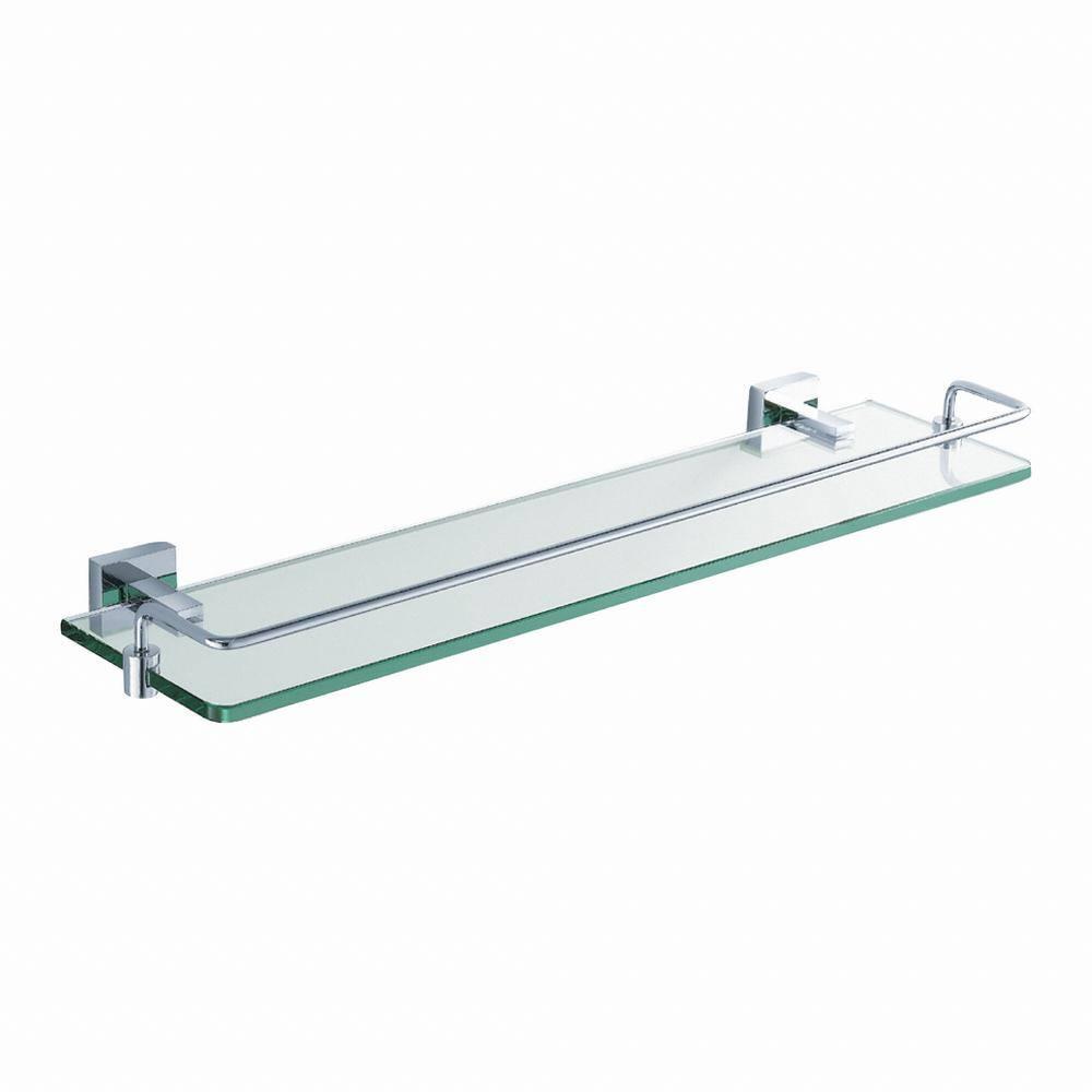 Kraus Aura Bathroom Shelf With Railing In Chrome Kea 14445ch The Home Depot