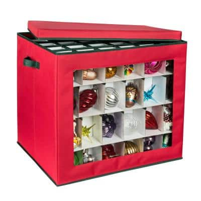 Ornament Storage Container in Red (120-Count)