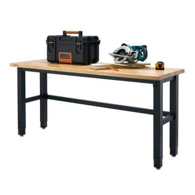6 ft. W x 24 in. D Adjustable Height Workbench