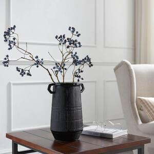 Dapper Deco Black Double Handle Vase