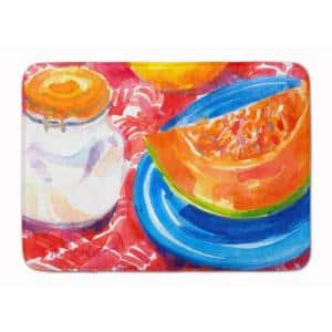 19 in. x 27 in. A Slice of Cantelope Machine Washable Memory Foam Mat