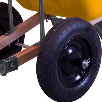 8 cu. ft. Poly Wheelbarrow with Dual Wheels