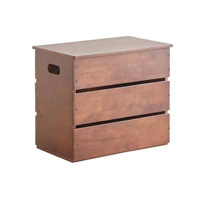 18.5 in. Multi Purpose Espresso Wood Storage Box