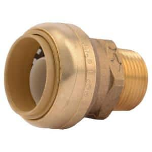 1 in. Push-to-Connect x 3/4 in. MIP Brass Adapter Fitting