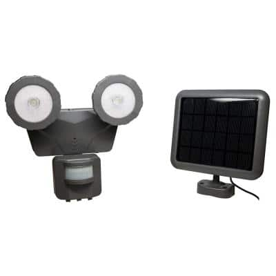 160° Dark Grey Solar LED Motion Outdoor 500 Lumen Activated Light
