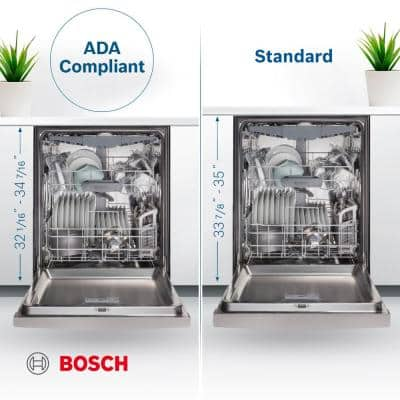 800 Series 24 in. ADA Top Control Dishwasher in Stainless Steel with Crystal Dry and 3rd Rack, 42dBA