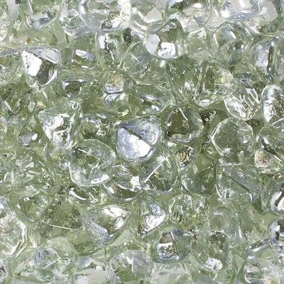 10 lbs. Clear Luster Fire Glass Diamonds in Jar