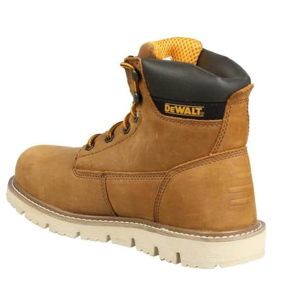 Dewalt Men S Flex 6 Work Boots Soft Toe Wheat Poseidon Size 13 M Dxwp10027m Whp 13 The Home Depot