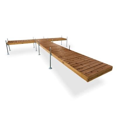 24 ft. L T-Style Cedar Complete Dock Package