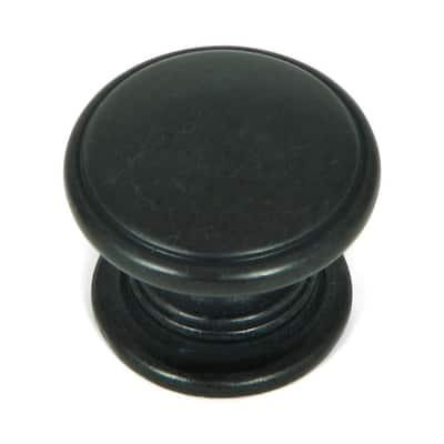 Saybrook 1-1/4 in. Antique Black Round Cabinet Knob (10-Pack)