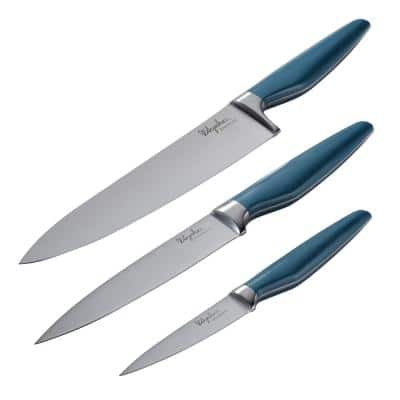 Home Collection 3-Piece Twilight Teal Japanese Steel Cooking Knife Set