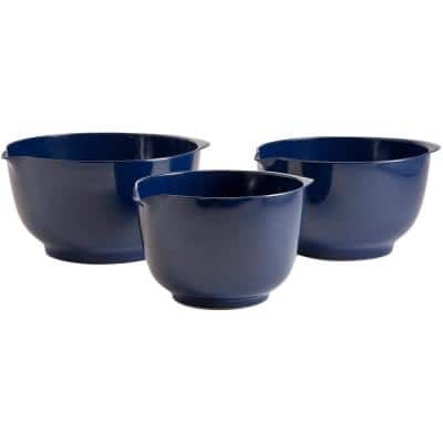 2, 3 and 4 l Melamine Mixing Bowl Set in Cobalt Blue (Set of 3)