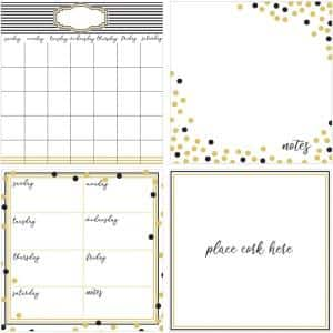 26 in. x 26 in. White Glam Decal Organization Kit