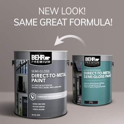 1 gal. Black Semi-Gloss Direct to Metal Interior/Exterior Paint