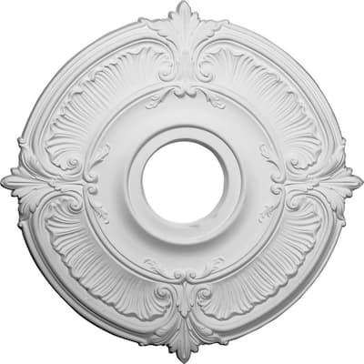 "18"" x 4"" I.D. x 5/8"" Attica Urethane Ceiling Medallion (Fits Canopies upto 5""), Primed White"