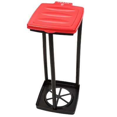 13 Gal. Red Portable Garbage Trash Bag Holder